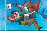 """Folder do Evento: Exposição """"Futebol Arte"""""""