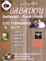 Folder do Evento: SABADOU COM LUIZ FERNANDES & DJ.TI