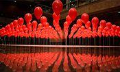 """Folder do Evento: """"Balões Vermelhos"""""""