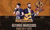 Folder do Evento: Jorge & Mateus