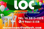 Loc Brinque Locações - Locação de Brinquedos e Mesas e Cadeiras em Sorocaba