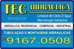 Tec Hidraulica - Limpeza de Caixa D´ água e Manutenção Hidráulica