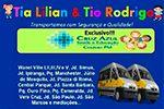 Tia Lilian & Tio Rodrigo -  Van Escolar apenas para o colégio PM Cruz Azul