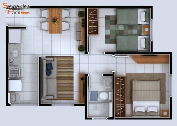 Apartamento com Documentação Gratuita.