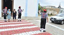 Mímicos da Urbes farão ação educativa em faixas de pedestre do Centro