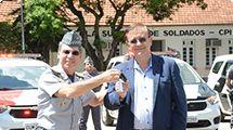 Prefeito Crespo participa da cerimônia de entrega das novas viaturas da Polícia Militar