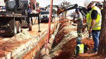 Obras do BRT: remanejamento de rede interrompe abastecimento quarta-feira