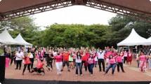 Evento do Outubro Rosa foi destaque no Parque Campolim na manhã deste domingo (17)